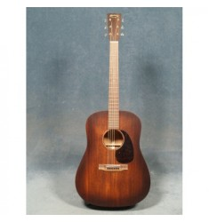 Martin D-15M Burst Guitar with Case, Sunburst Top