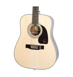 Cibson DR-212 12-String Acoustic Guitar Natural Chrome Hardware