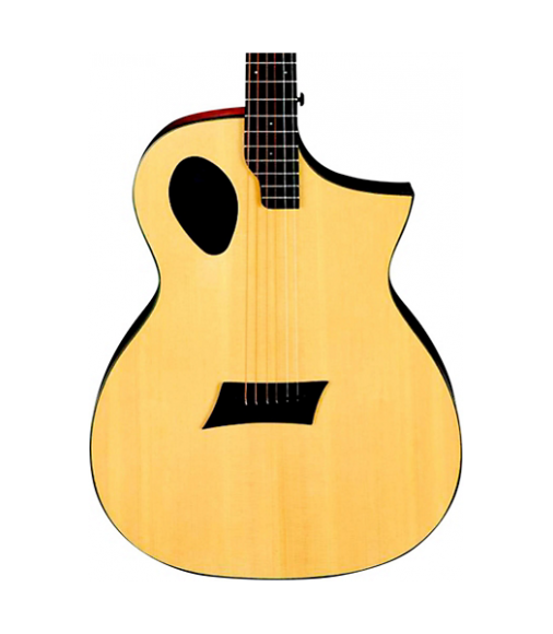 Michael Kelly Forte Port Offset Soundhole Cutaway Acoustic Electric Guitar Natural