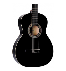 "Giannini GN-6 N 36"" Scale Classical Guitar Gloss Black"