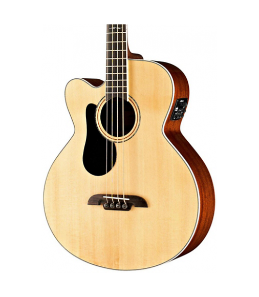 Alvarez AB60LCE Left-Handed Acoustic-Electric Bass Guitar Natural