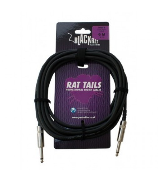 Black Rat NGC6 6m Mono Jack to Jack Audio Cable