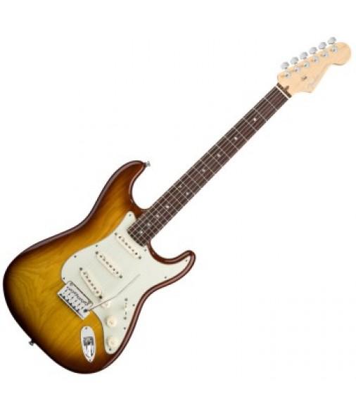 Fender American Deluxe Ash Stratocaster Tobacco Sunburst RW