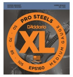 D'Addario EPS160 ProSteels Bass Guitar Strings 50-105