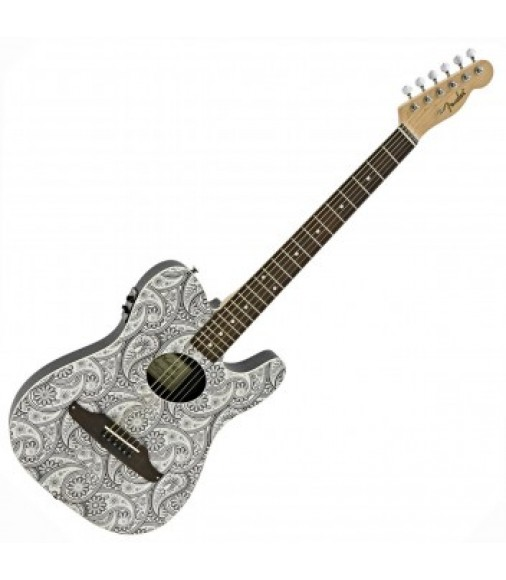Fender White Paisley Telecoustic Limited Edition