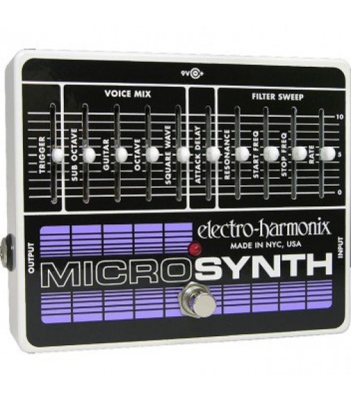 Electro Harmonix Micro Synth Analog Guitar Synthesiser Pedal