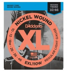 D'Addario EXL110W Nickel Wound Electric Guitar Strings 10-46