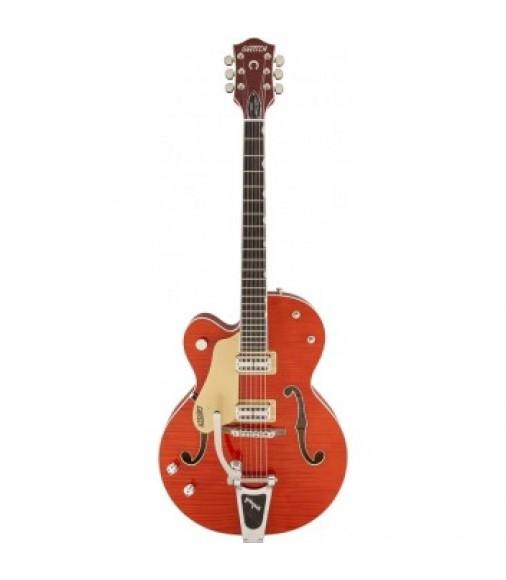 Gretsch G6120SSULH Setzer Nashville Left Handed Guitar - Orange Tiger