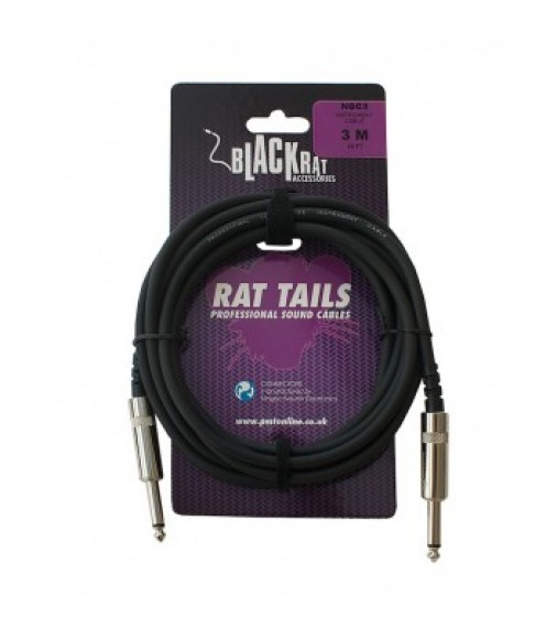Black Rat NGC3 3m Mono Jack to Mono Jack Instrument Cable