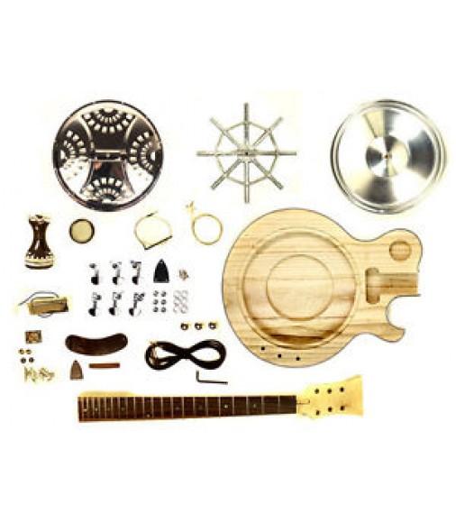 resonator guitar acoustic electric diy kit single cutaway