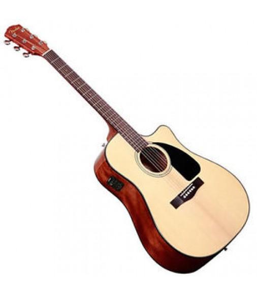 Fender CD-60CE Acoustic Guitar w/Case Natural DEMO