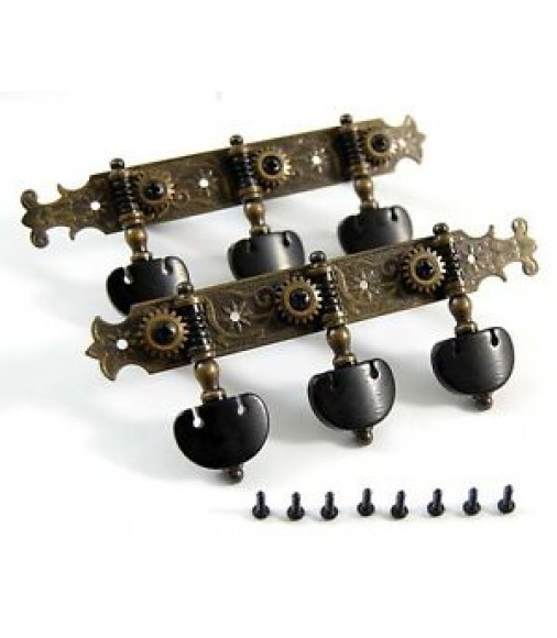 Antique-Brass color Classical Guitar Machine Heads ,Tuners , pegs , 200AB-P6B