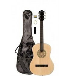 "38"" Inch Student Beginner Natural Acoustic Guitar with Carrying Case &"