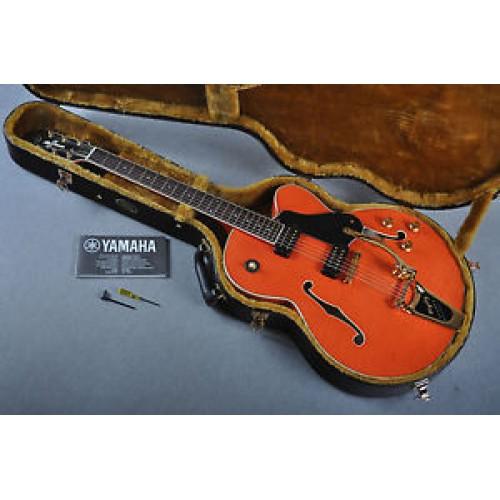 Yamaha hollow body electric guitar single cutaway with for Where are yamaha guitars made