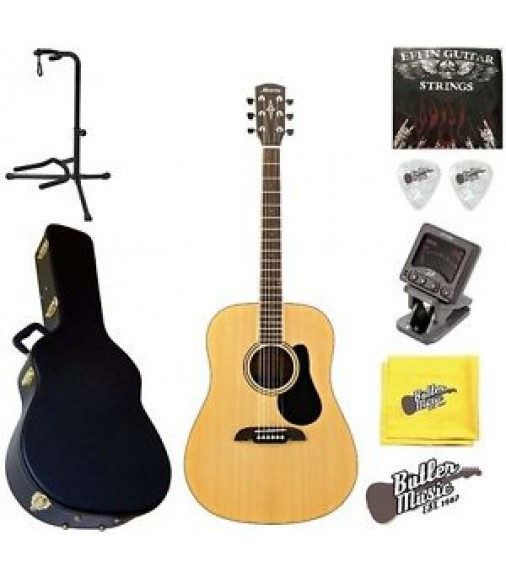 Alvarez RD27 Regent Series Dreadnought Acoustic Guitar w/BK Hardshell case+More