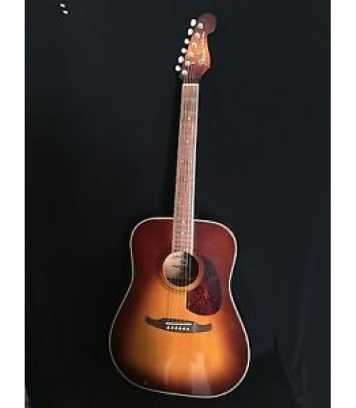 Fender Malibu Vintage 1980s Acoustic Guitar MIK Korea Violin Burst Beauty