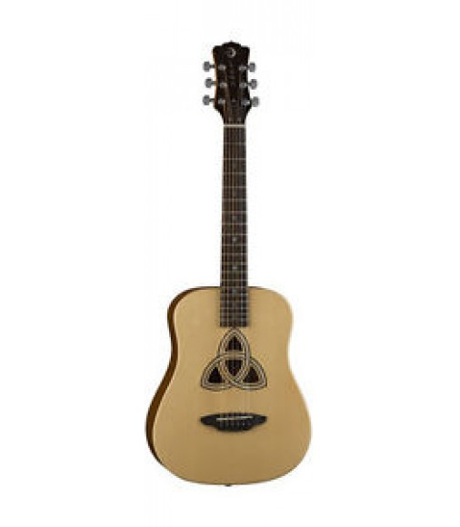 Luna Travel 3/4 Size Acoustic 6 String Guitar w/Trinity Soundhole + Gig Bag