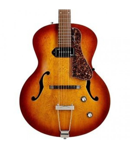 Godin 5th Avenue Kingpin Archtop Hollowbody Electric Guitar P90s Cognac Burst MC