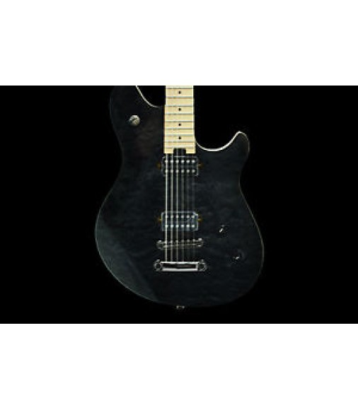 EVH Wolfgang-T Standard Maple Neck Quilted Maple Trans Black Electric Guitar