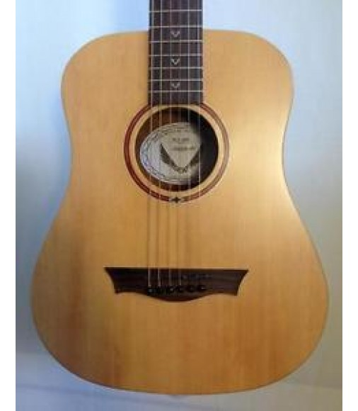 Dean FLY Flight Spruce Travel Acoustic Guitar Satin Natural with Gig Bag