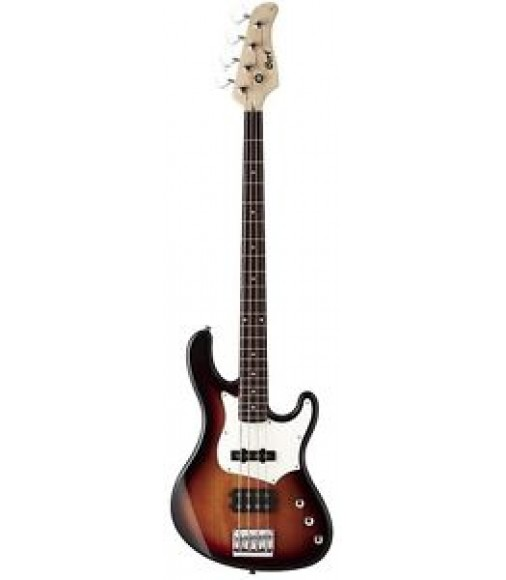 Cort GB Series GB34A 4-String Electric Bass Guitar, 3-Tone Sunburst,GB34A3TS,NEW