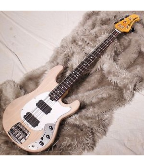 MUSICMAN Classic Sabre Trans White/Rosewood w/hard case F/S Bass From JPN #Z894