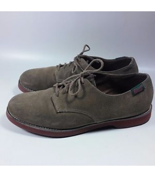 vintage mens classic style bass shoes brown suede leather