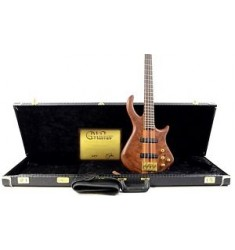 2013 Warrior Signature 4 String Electric Bass Guitar - Natural w/ OHSC & COA
