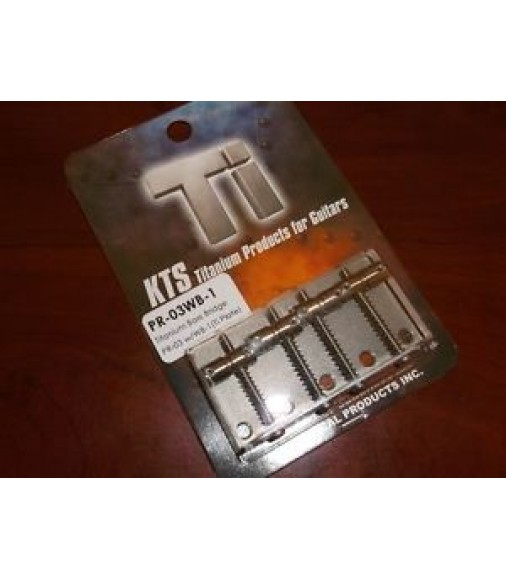 NEW KTS PR-03WB-1 Bass Bridge With Standard Saddles For Jazz Bass - TITANIUM