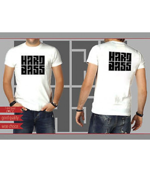 HARD BASS Fans T-shirt White Size: S - XXL (HB601)