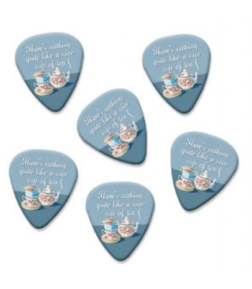 Nice Cup Of Tea Martin Wiscombe 6 X Guitar Picks Vintage Retro