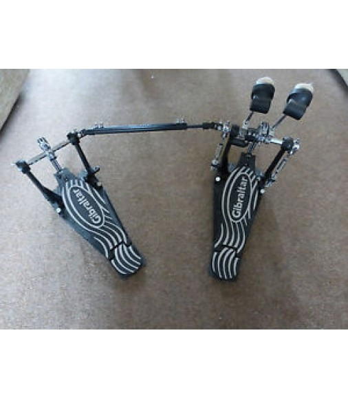 Gibraltar Double Kick Drum Bass Pedal Double Chain Drive Twin Pedals