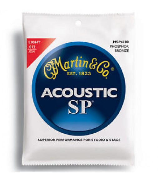 5 Sets Martin SP MSP4100 Light Gauge Phosphor Bronze Acoustic Guitar Strings