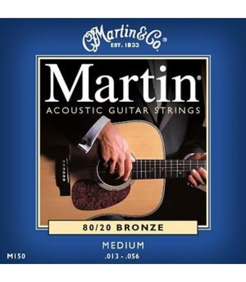 Martin M150 Medium Gauge Acoustic Guitar Strings (.13 - .56)