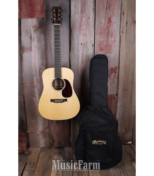 Martin D Jr Dreadnought Junior Acoustic Electric Guitar Travel Size with Gigbag