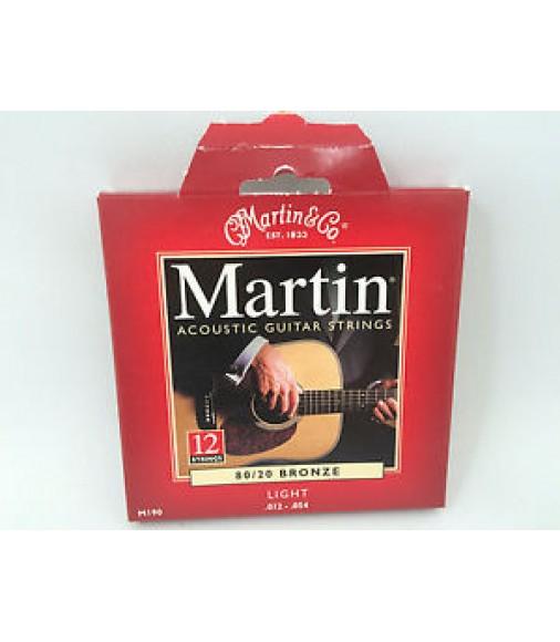 Martin Acoustic Guitar Strings 12 String M190 Light