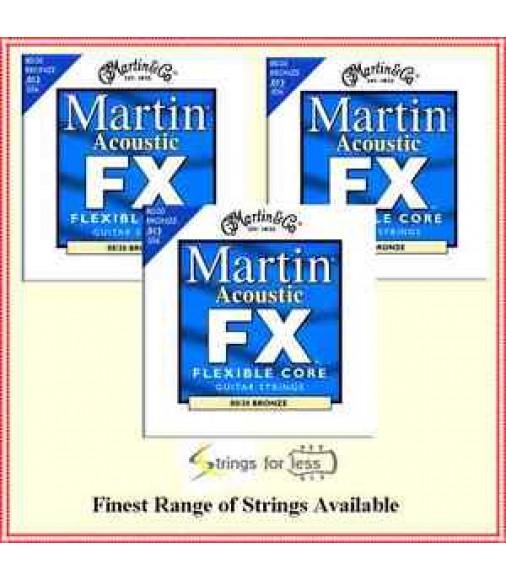3 sets Martin Acoustic Guitar Strings Flexible Core MFX650 80/20 Bronze 13 - 56