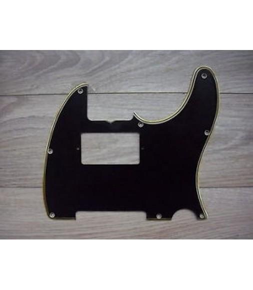 60's 70's Fender Telecaster Humbucker Pickguard 5 PLY Black 8 hole Tele Relic