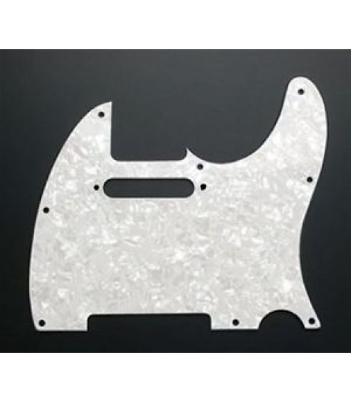 New Tele Pickguard WHITE PEARL 8 Hole 4 Ply for USA Fender Telecaster Guitar
