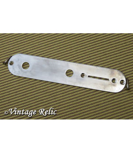 AGED Tele CONTROL PLATE fit Fender 52 Telecaster 51 Nocaster + SLOT screws RELIC