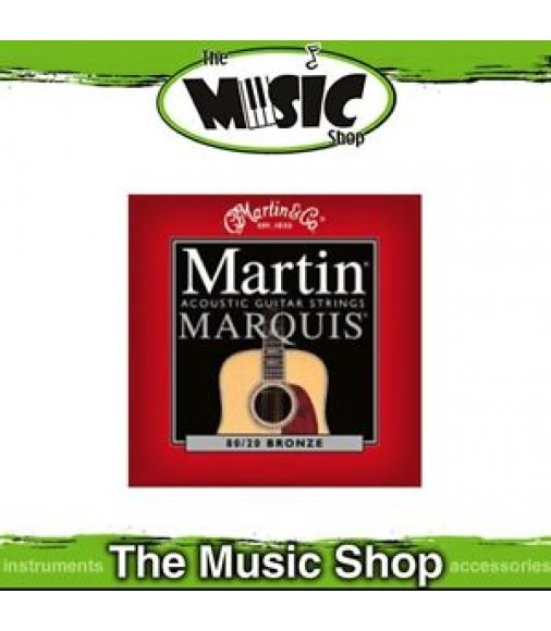 Martin Marquis 80/20 Bronze Acoustic Guitar Strings 12-54 Light - M1100
