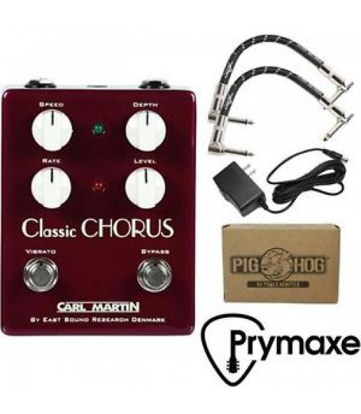 Carl Martin Vintage Series Classic Chorus V2 W/ Fender Cables & Power Supply