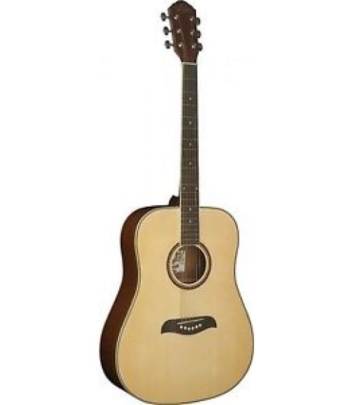 Oscar Schmidt Model OG2N - Acoustic Natural Dreadnought Size Guitar - NEW