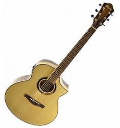 *NEW* Ibanez AEW51 Exotic Tonewood Acoustic Electric Guitar - Natural (B)
