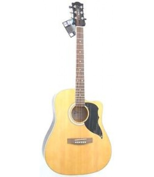 Eko Model KWNAT - Dreadnought Size Acoustic Guitar in Natural Finish