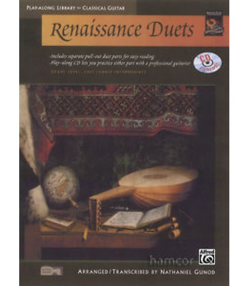 Renaissance Duets Play-Along Library for Classical Guitar Music Book/CD Easy Duo