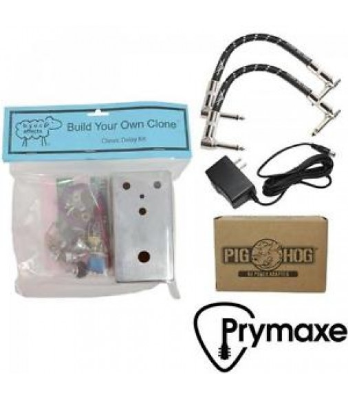 BYOC Build Your Own Clone Classic Delay Kit W/ Fender Cables & Power Supply