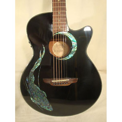 new luna guitars fauna koi acoustic electric guitar guitars china online. Black Bedroom Furniture Sets. Home Design Ideas