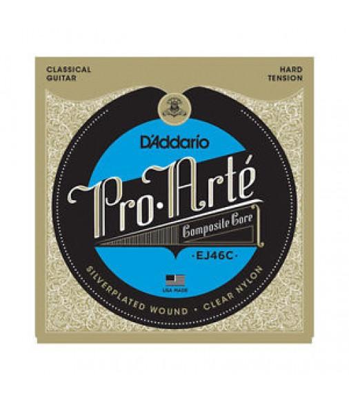 D'Addario EJ46C Pro Arte Classical Guitar Strings Composite Core; silver & clear