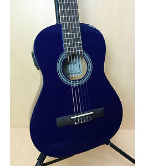 3/4 Caraya Nylon-String Classical Guitar EQ, Purple + Free Bag,Tuner-Only One!